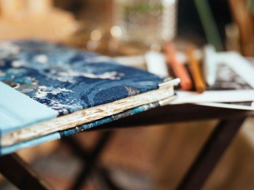 Cuaderno de sueños flores azules 5