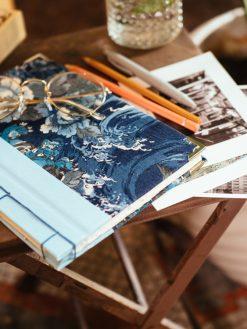 Cuaderno de sueños flores azules 12
