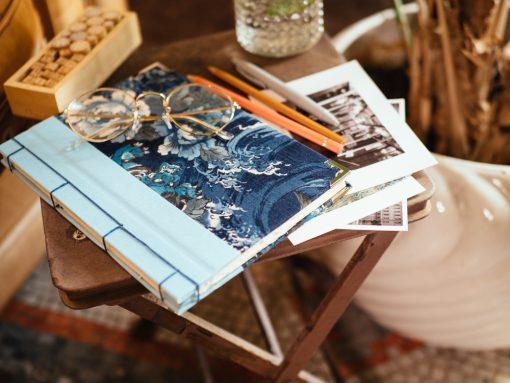 Cuaderno de sueños flores azules 6