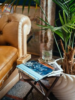 Cuaderno de sueños flores azules 13
