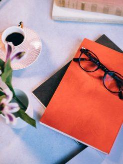 Cuaderno piel naranja 14