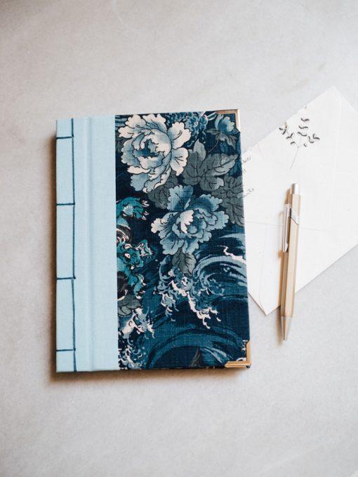 Cuaderno de sueños flores azules 1