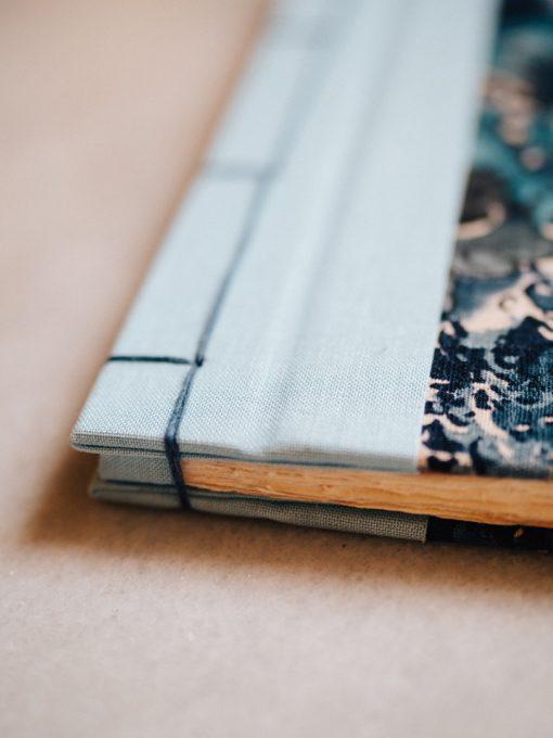 Cuaderno de sueños flores azules 3