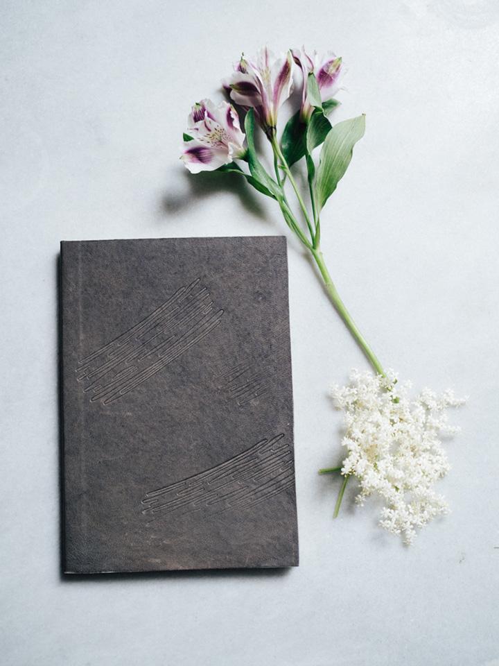Cuaderno piel marrón 1
