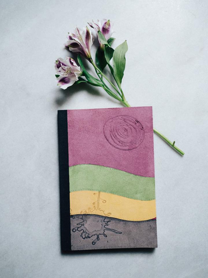 Cuaderno piel multicolor 1