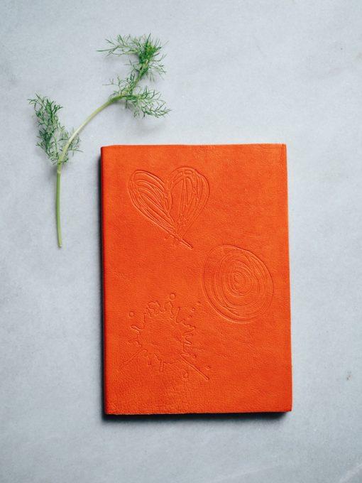 Cuaderno piel naranja 1