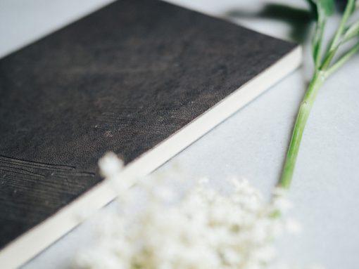 Cuaderno piel marrón 3