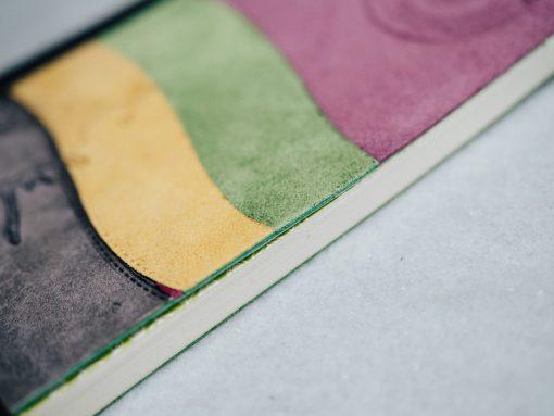 Cuaderno piel multicolor 4