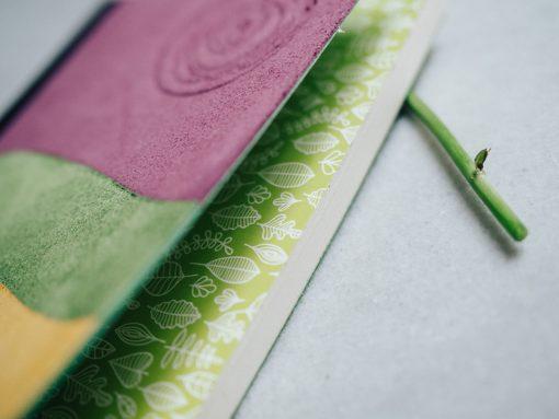 Cuaderno piel multicolor 3