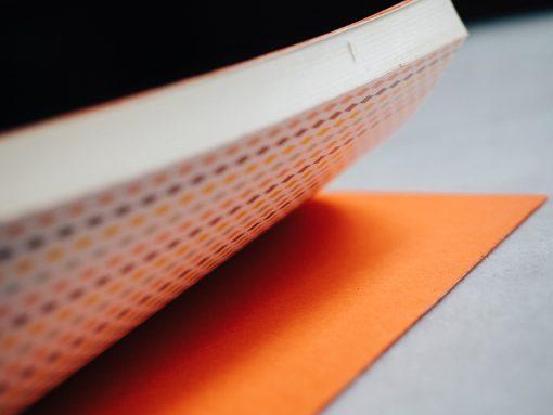 Cuaderno piel naranja 3