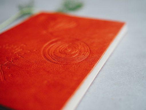 Cuaderno piel naranja 4