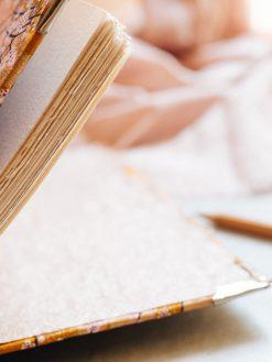 Cuaderno de sueños dorado y marrón 6