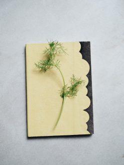 Cuaderno piel pistacho y marron 7